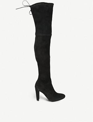 STUART WEITZMAN Highland suede heeled boots