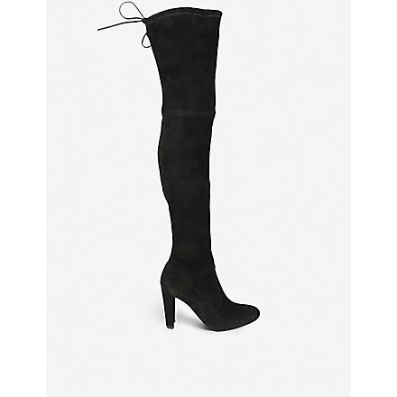 STUART WEITZMAN Highland suede heeled boots (Black