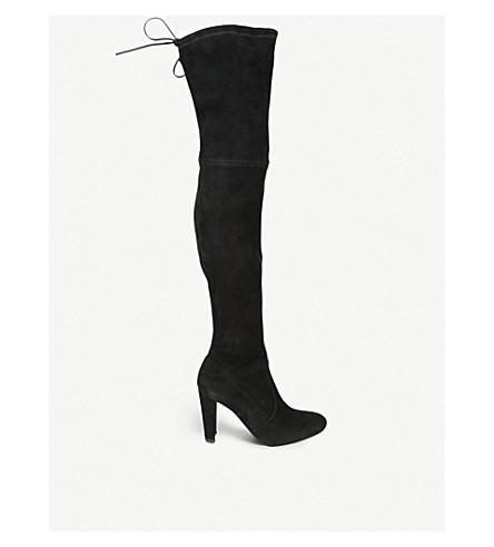 STUART WEITZMAN 高地麂皮绒 over-the-knee 靴 (黑色