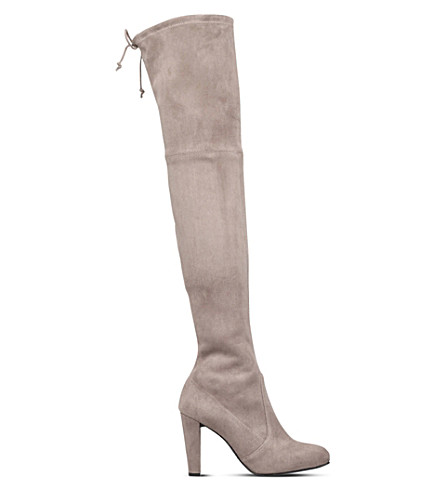 STUART WEITZMAN Highland suede heeled boots (Taupe