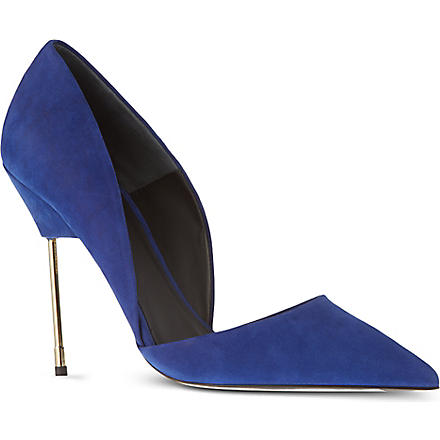 KURT GEIGER Bond suede courts (Blue