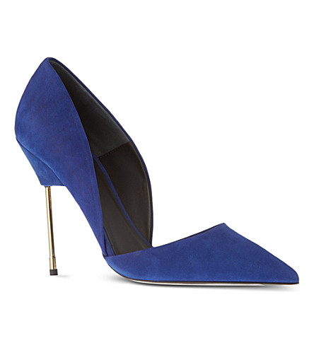 KURT GEIGER LONDON Bond suede courts (Blue