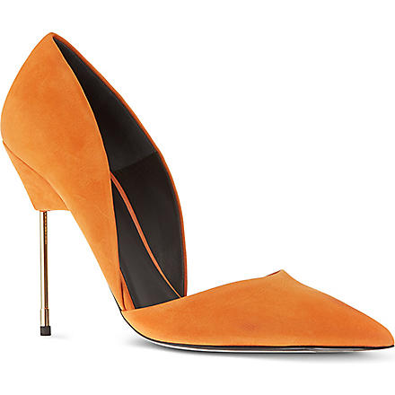 KURT GEIGER Bond suede courts (Orange