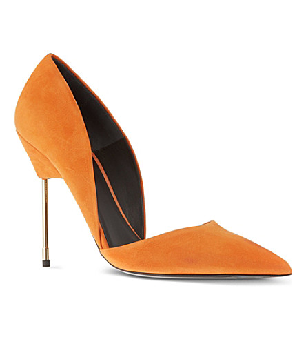 KURT GEIGER LONDON Bond suede courts (Orange