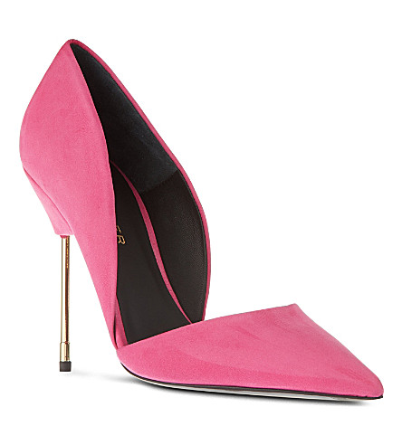 KURT GEIGER LONDON Bond suede courts (Pink
