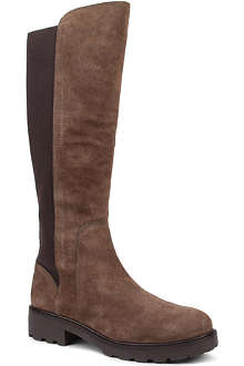 TORY BURCH Landon suede calf-high boots