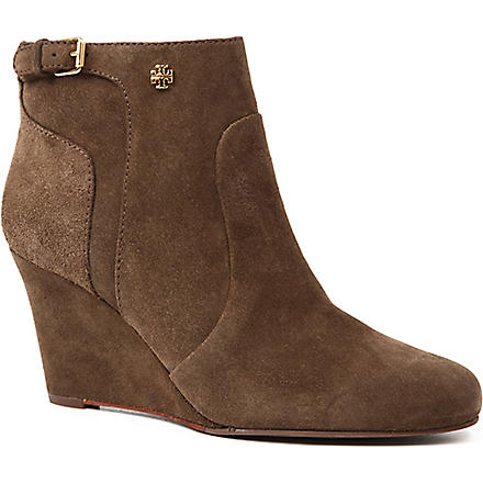 TORY BURCH Milan suede ankle boots (Grey