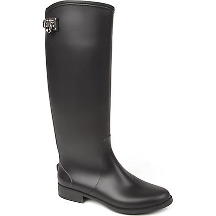 FERRAGAMO Ruben rubber riding boots (Black