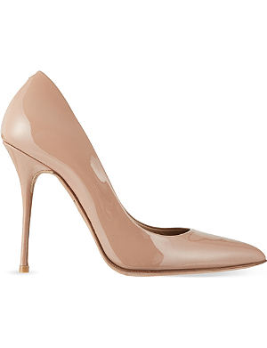 KURT GEIGER LONDON Ellen patent court shoes