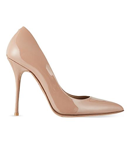 KURT GEIGER LONDON Ellen patent court shoes (Nude