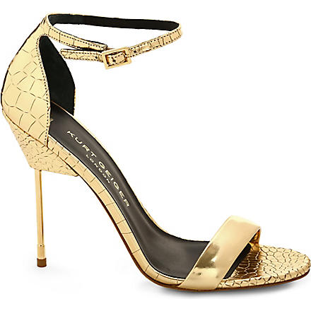 KURT GEIGER Belgravia leather sandals (Gold
