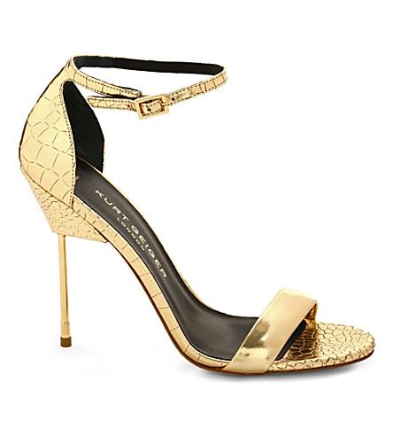 KURT GEIGER Belgravia leather sandals (Gold