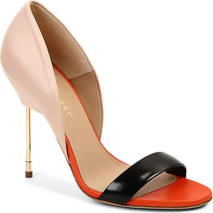KURT GEIGER Bank leather sandals (Nude