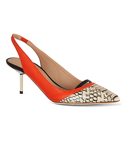 KURT GEIGER Carley slingbacks (Orange