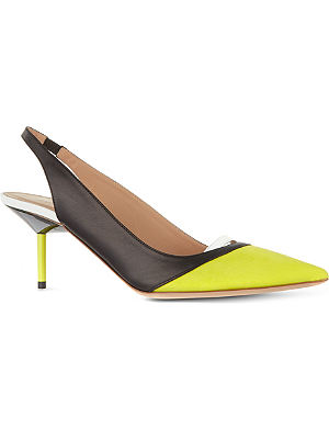 KURT GEIGER Carley leather slingbacks