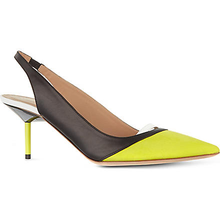 KURT GEIGER Carley leather slingbacks (Yellow