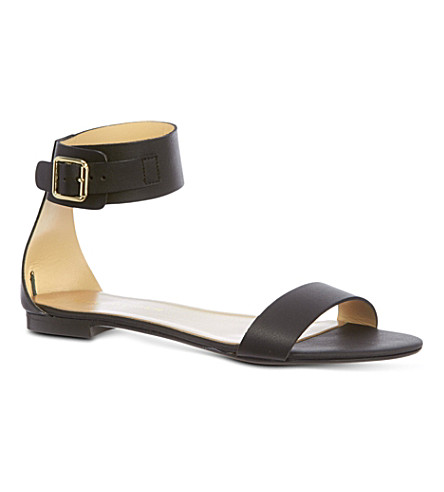 KURT GEIGER LONDON Lane leather sandals (Black