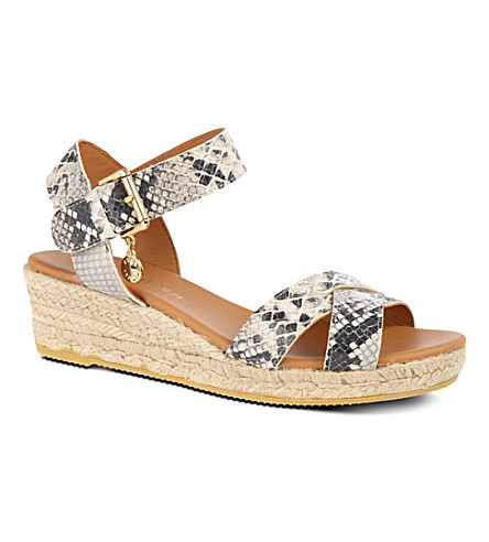 KURT GEIGER LONDON Libby wedges (Blk/white