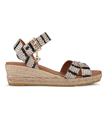 KURT GEIGER LONDON Libby wedge sandals (Blk/beige