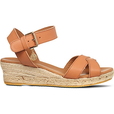 KURT GEIGER Libby wedge sandals (Tan
