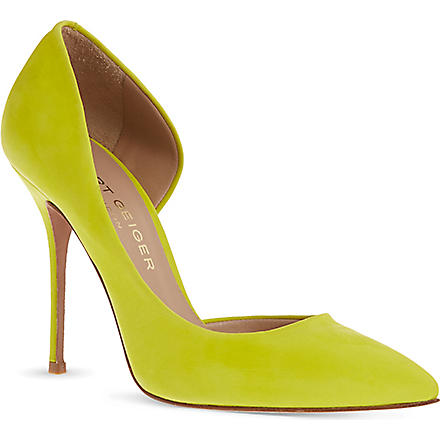 KURT GEIGER Anja suede courts (Yellow