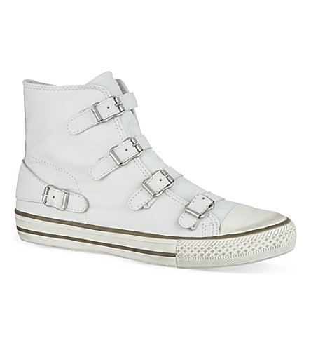 KURT GEIGER Lizzy leather high tops (White