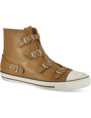 KURT GEIGER Lizzy leather high top trainers