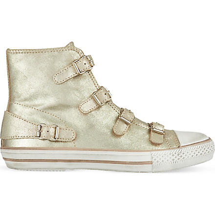 KURT GEIGER Lizzy leather high tops (Rust