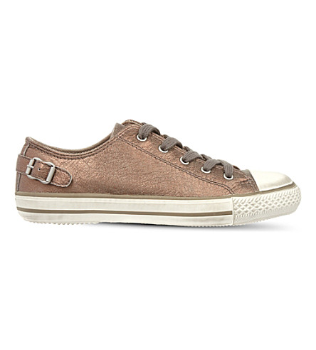 KURT GEIGER LONDON Liberty leather low-top rainers (Bronze