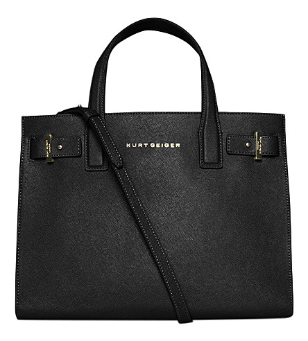 KURT GEIGER LONDON London saffiano leather tote (Black