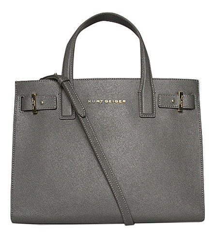 KURT GEIGER LONDON London saffiano leather tote (Grey/other