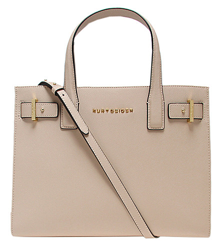 KURT GEIGER LONDON London saffiano leather tote (Beige