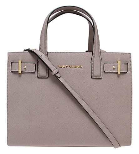 KURT GEIGER LONDON London saffiano leather tote (Taupe