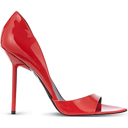 KURT GEIGER Juniper patent heeled sandals (Red