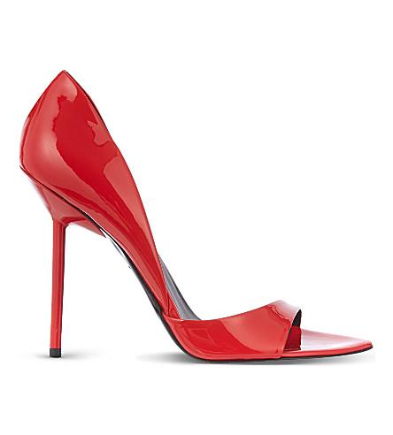 KURT GEIGER LONDON Juniper patent heeled sandals (Red