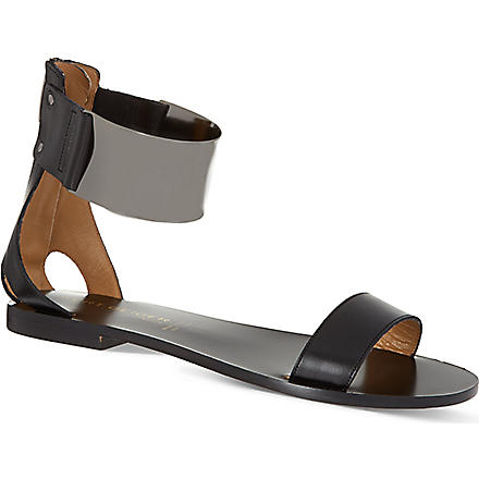KURT GEIGER Lux leather sandals (Black