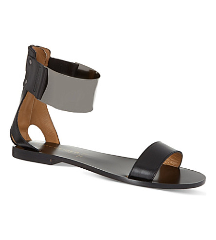 KURT GEIGER LONDON Lux leather sandals (Black