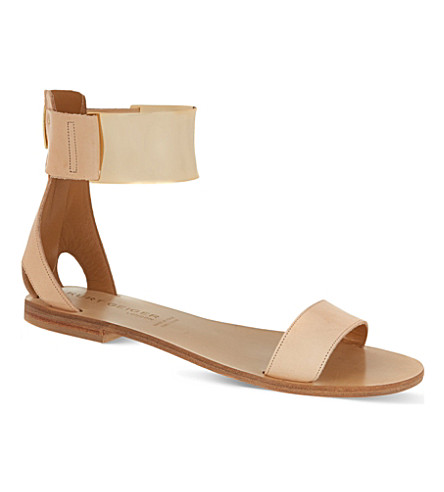 KURT GEIGER Lux leather sandals (Tan