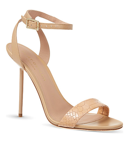 KURT GEIGER Foxglove leather sandals (Nude