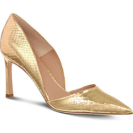 KURT GEIGER Tulip court shoes (Gold