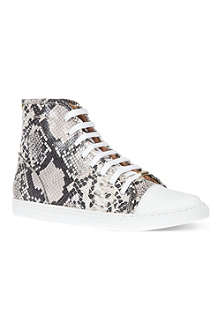 KURT GEIGER Leemo snakeprint high top trainers