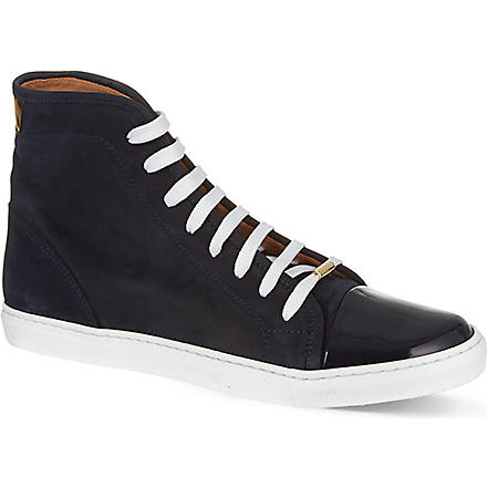 KURT GEIGER Leemo suede high-tops (Navy