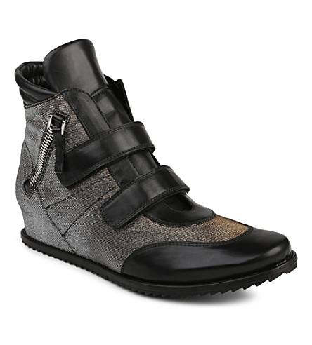 STUART WEITZMAN Boywonder high-top trainers (Black
