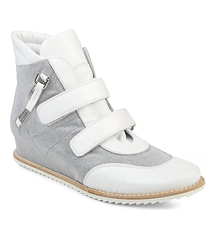 STUART WEITZMAN Boywonder high-top trainers (White