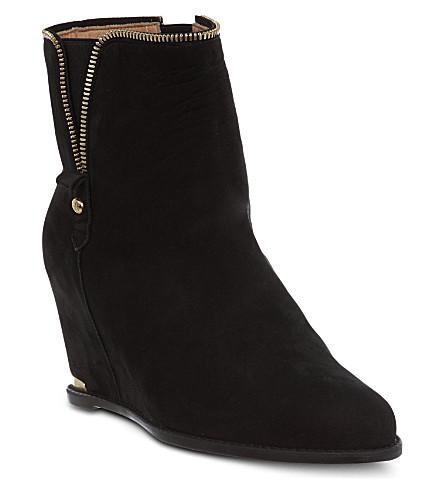 STUART WEITZMAN Como suede ankle boots (Black