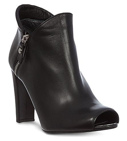 STUART WEITZMAN Jump leather shoe boots (Black