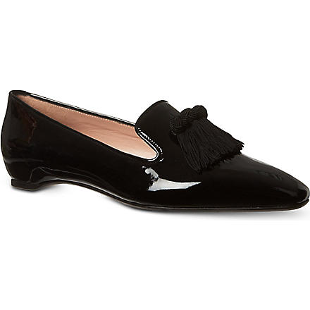 STUART WEITZMAN Tasstrio patent leather loafers (Black