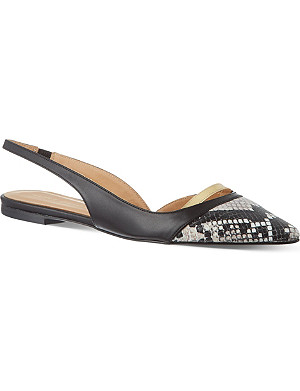 KURT GEIGER Chelsea snakeprint court shoes