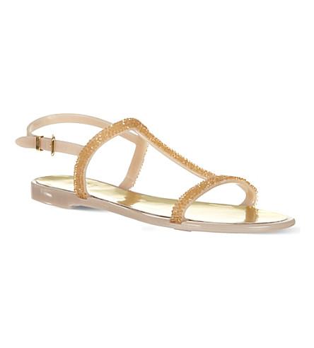 STUART WEITZMAN Teezer t-bar sandals (Beige