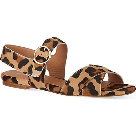 KURT GEIGER Dahlia leopard print sandals (Brown/oth
